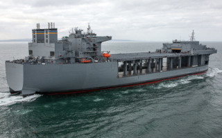 Expeditionary Sea Base (ESB) 3, named after distinguished U.S. Marine Corps Lieutenant General Lewis B. Puller, is an example of the ESB ship type. General Dynamics/NASSCO image.