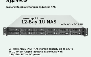 Introducing Cepoint's 1U rack-mount All Flash Array (AFA) NAS (Network Attached Storage) with raw capacity up to 122TB