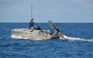 Mine-hunting sonar initial tests aboard unmanned vessel completed by Northrop Grumman