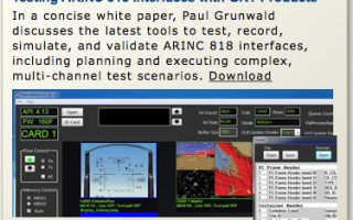 Development suite for ARINC 818 installations
