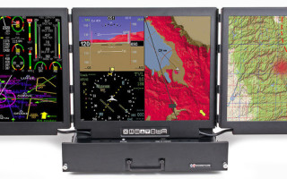 Rugged military display features three LCD panels