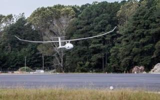 The VA001 lands back at NASA Wallops after 121 hours, 24 minutes in the air. Photo credit NASA/Terry Zaperach.
