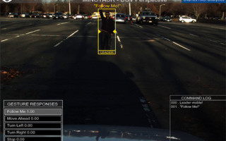 Example application of Charles River?s gesture recognition technology using stand-off sensors. Image courtesy Charles River Analytics.