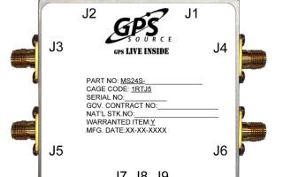 GPS splitter includes antenna health sensor