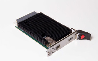 Figure 1| Curtiss-Wright VPX3-687, a 10G/40G backplane Ethernet switch now available in a SOSA-aligned configuration.