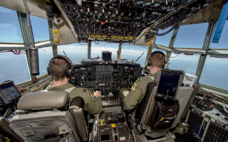 The side head-up display for AC-130J gunship cockpits was upgraded with the MAGIC1A high-performance embedded computing system from Abaco Systems. Photo by Airman Cameron Lewis.