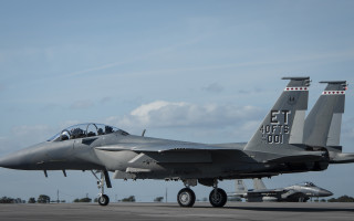 The U.S. Air Force's first F-15EX arrives at Eglin AFB on March 11, 2021. U.S. Air Force photo/Ilka Cole