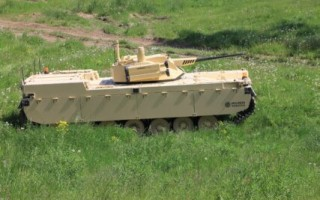 Type-X Robotic Combat Vehicle designed with AI and predictive maintenance