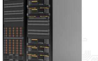 TrueHPC rack--Image provided by Penguin Computing.