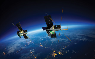 Image: UNSW Canberra Space's M2 CubeSat small satellites.