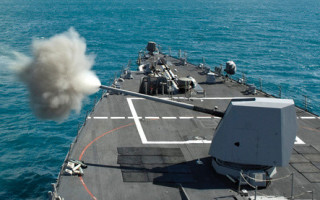 Navy destroyer-class ships set to overhaul and upgrade Mk 45 gun systems