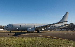 U.S. Navy officials accept delivery of 50th P-8A Poseidon aircraft