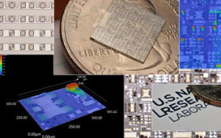 U.S. Naval Research Laboratory (NRL) researchers have developed a patent pending technique using niobium nitride that allows gallium nitride (GaN) to be transferred onto almost anything. Source: U.S. Naval Research Laboratory.