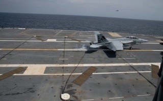 First aircraft launch and recovery performed aboard the newly commissioned USS Ford