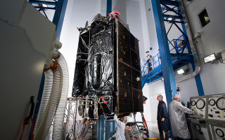 U.S. Air Force's GPS III space vehicle completes acoustic testing