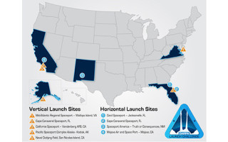 Potential launch sites and first competitors selected for DARPA program